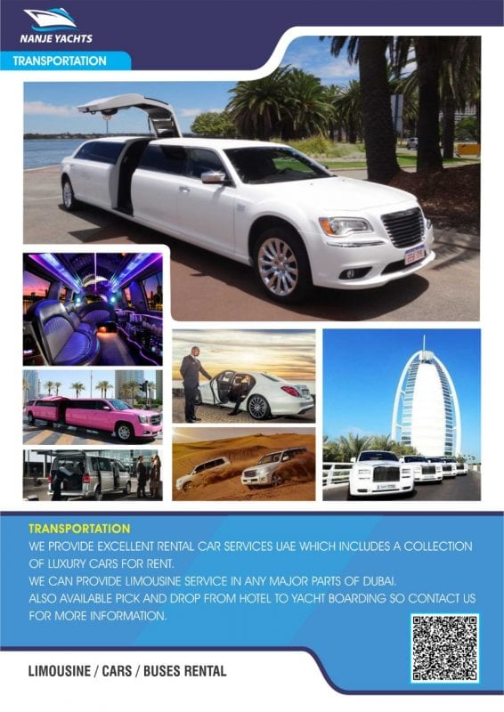 LIMOUSINE Cars for Rent Nanje Yachts