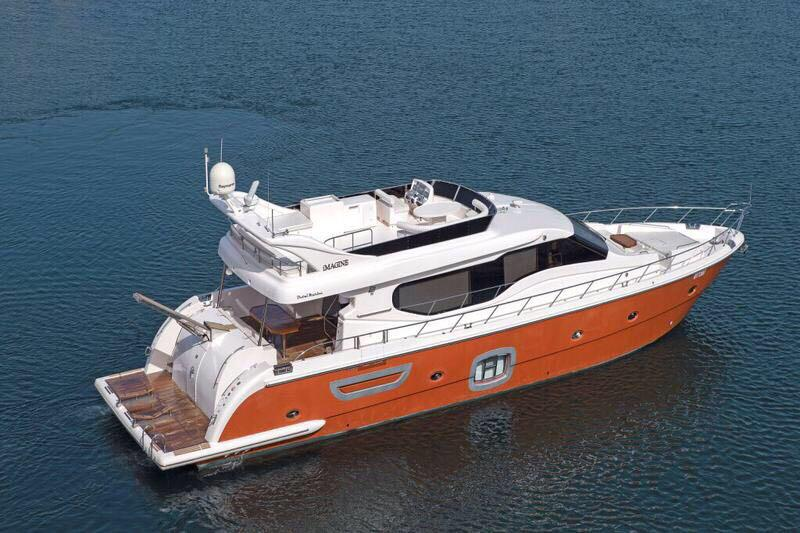 980ft yacht in duabi marina to book